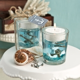 FashionCraft Nautical-Themed Gel Candle Holder with Anchor Design