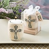 FashionCraft Exquisite Cross Design Tealight Candle Holder
