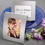 FashionCraft Matte Silver Metal Place Card/Photo Frame