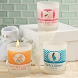 Clearly Custom Personalized Frosted Glass Candle Holder (Baby Shower)