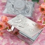 Elegant Reflections Collection Butterfly Design Mirror Compact Favor