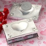 Elegant Reflections Collection Heart Design Mirror Compact Favor