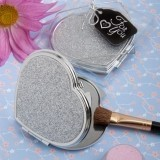 Classy Compact Collection Heart-Shaped Metal Compact Favor
