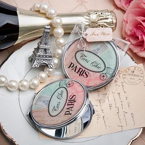 Classic Symbols of Paris Compact Mirror