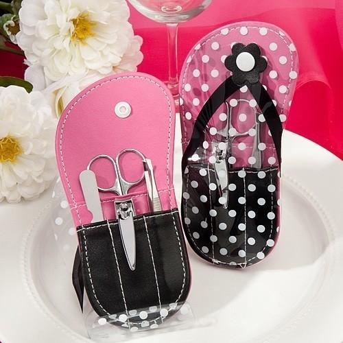 8ec0fab8a5432a FashionCraft Polka Dot Flip-Flop Design Manicure Set