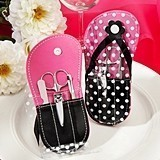 FashionCraft Polka Dot Flip-Flop Design Manicure Set