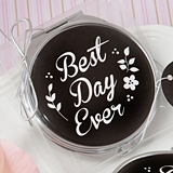 "FashionCraft ""Best Day Ever"" Metal & Epoxy Compact Mirror"