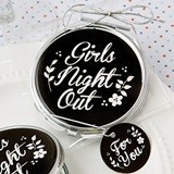 "FashionCraft ""Girls Night Out"" Metal & Epoxy Compact Mirror"