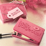 FashionCraft Hello Gorgeous Themed Hot Pink Compact Mirror