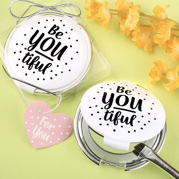 Be-YOU-tiful Hard-Molded Plastic Compact Mirror from FashionCraft