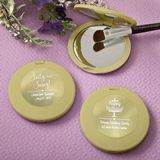 Personalized Metallics Collection Gold Compact Mirror (Celebrations)