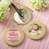 Personalized Expressions Collection Gold Compact Mirror (Baby Shower)