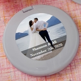 FashionCraft Expressions Collection Personalized Silver Compact Mirror