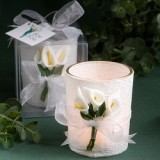 FashionCraft Stunning Calla Lily Design Candle Favor