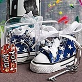FashionCraft Oh So Cute Blue Star Print Baby Sneaker Key Chain
