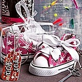 FashionCraft Oh So Cute Pink Star Print Baby Sneaker Key Chain