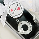 FashionCraft 'I Love You More' Silver-Metal Keychain w/ Embossed Heart