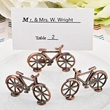 FashionCraft Antique-Copper-Metal Bicycle Design Place Card Holder