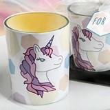 FashionCraft Unicorn-Themed Glass Votive Candle Holder