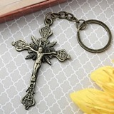 FashionCraft Jesus on the Cross Design Metal Key Chain