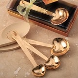 Gold-Finish 'Love Beyond Measure' Heart-Shaped Measuring Spoons
