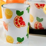 FashionCraft Colorful Citrus Slices Motif Candle Holder with Candle