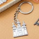 FashionCraft Silver Fairytale Castle-Shaped Cast-Metal Key Chain