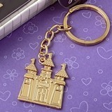 FashionCraft Gold Fairytale Castle-Shaped Cast-Metal Key Chain