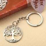 FashionCraft Silver Tree of Life and Family Cast-Metal Key Chain