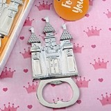 FashionCraft Castle-Themed Silver-Colored-Metal Bottle Opener