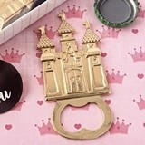 FashionCraft Castle-Themed Gold-Colored-Metal Bottle Opener