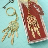 FashionCraft Gold Dream Catcher Charm Cast-Metal Key Chain
