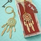 FashionCraft Gold Dream Catcher Charm Cast-Metal Key Chain