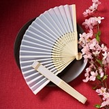 FashionCraft Elegant Silk Folding Fan Favor