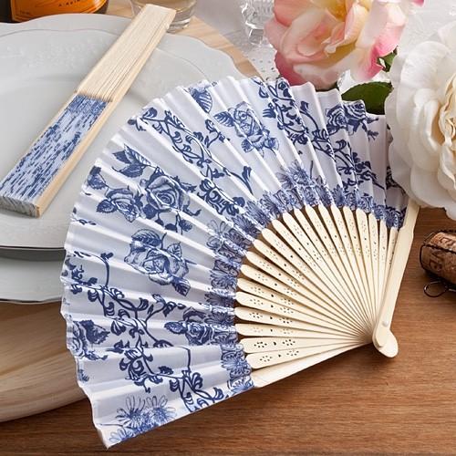 FashionCraft Elegant French Country Floral Design Silk Fan