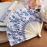 FashionCraft Elegant French Country Floral Design Silk Fan