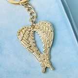 FashionCraft Gold-Metal Guardian Angel Wings Design Key Chain