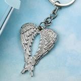 FashionCraft Silver-Metal Guardian Angel Wings Design Key Chain