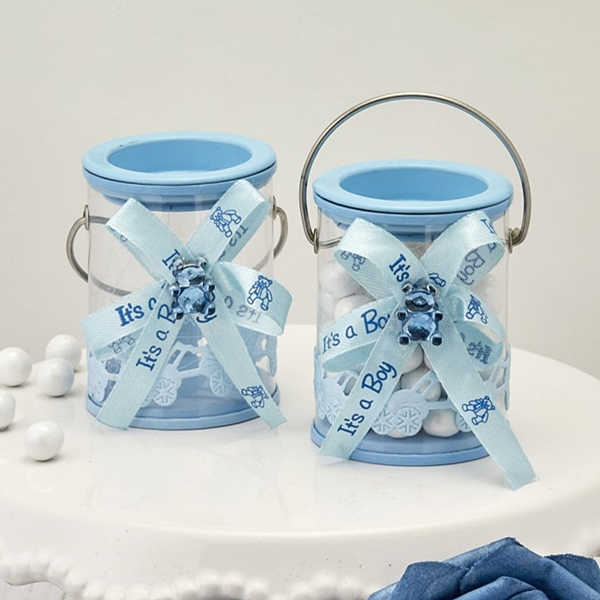FashionCraft Baby Boy Blue Decorated Paint Can