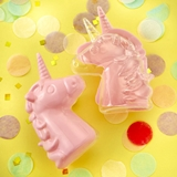 FashionCraft Perfectly Plain Collection Fillable Pink Unicorn Favor Box