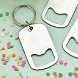 Perfectly Plain Collection Stainless-Steel Keychain Bottle Opener