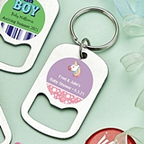Personalized Stainless-Steel Keychain Bottle Opener (Baby Shower)