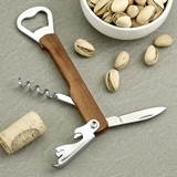 Natural Wood Multifunction Bartender's Tool (Bottle Openers/Corkscrew)