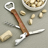 Personalized Expressions Natural Wood Multifunction Bartender's Tool