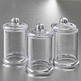 FashionCraft Perfectly Plain Acrylic Apothecary Jar with Handle Lid