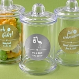 Personalized Metallics Collection Acrylic Apothecary Jar (Baby Shower)