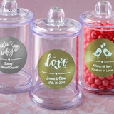 Personalized Metallics Collection Acrylic Apothecary Jar w/ Handle Lid