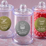 Personalized Metallics Collection Acrylic Apothecary Jar (Birthday)