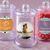 Personalized Expressions Collection Handle Lid Acrylic Apothecary Jar