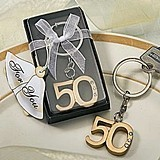 FashionCraft 50th Anniversary Key Ring Favor